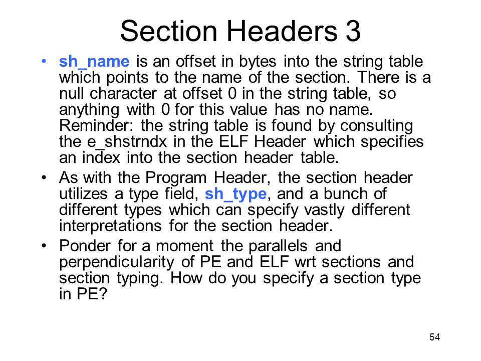 Section Headers 3