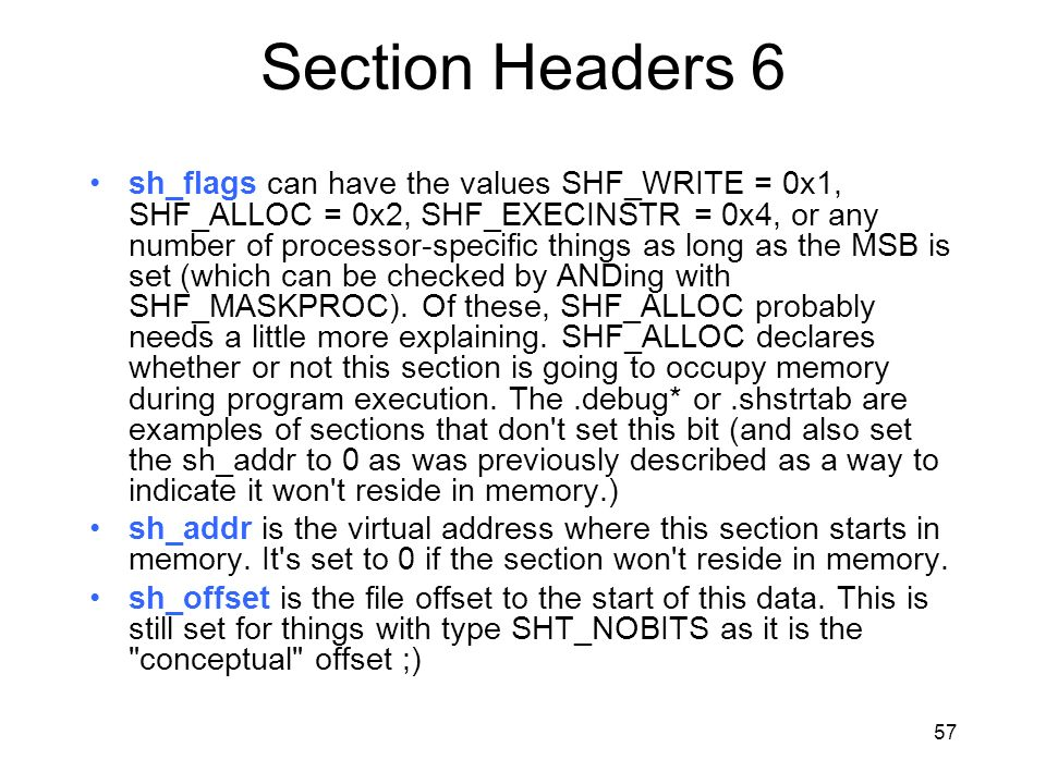 Section Headers 6