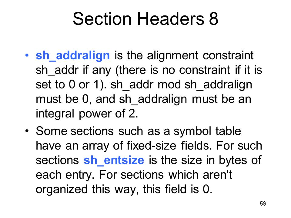 Section Headers 8