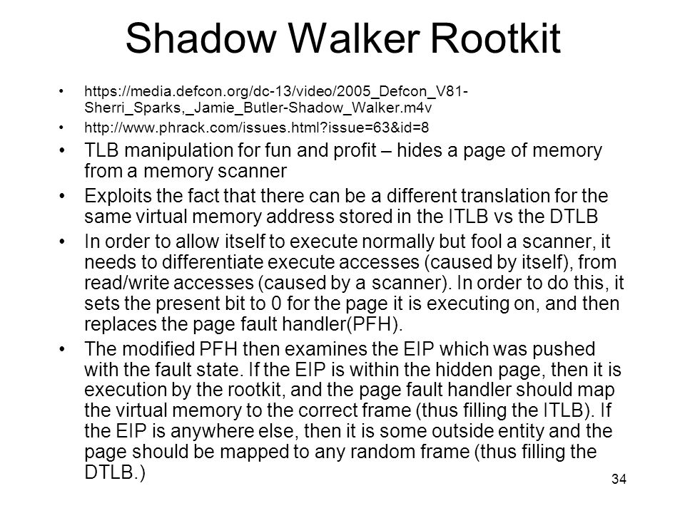 Shadow Walker Rootkit
