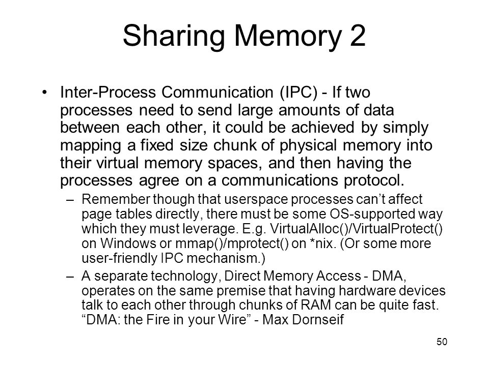 Sharing Memory 2