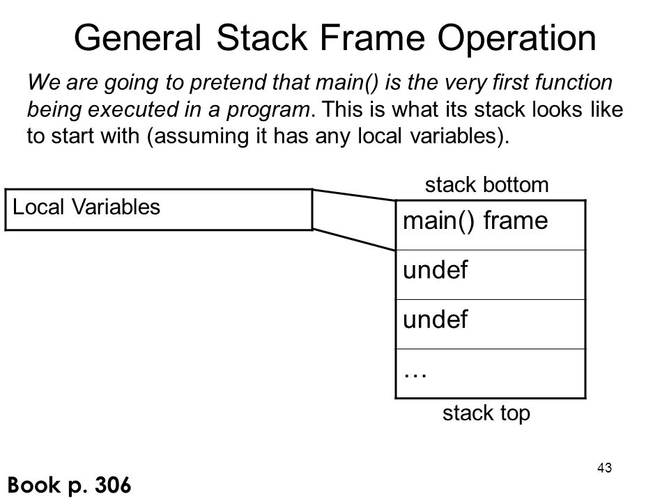 General Stack Frame Operation