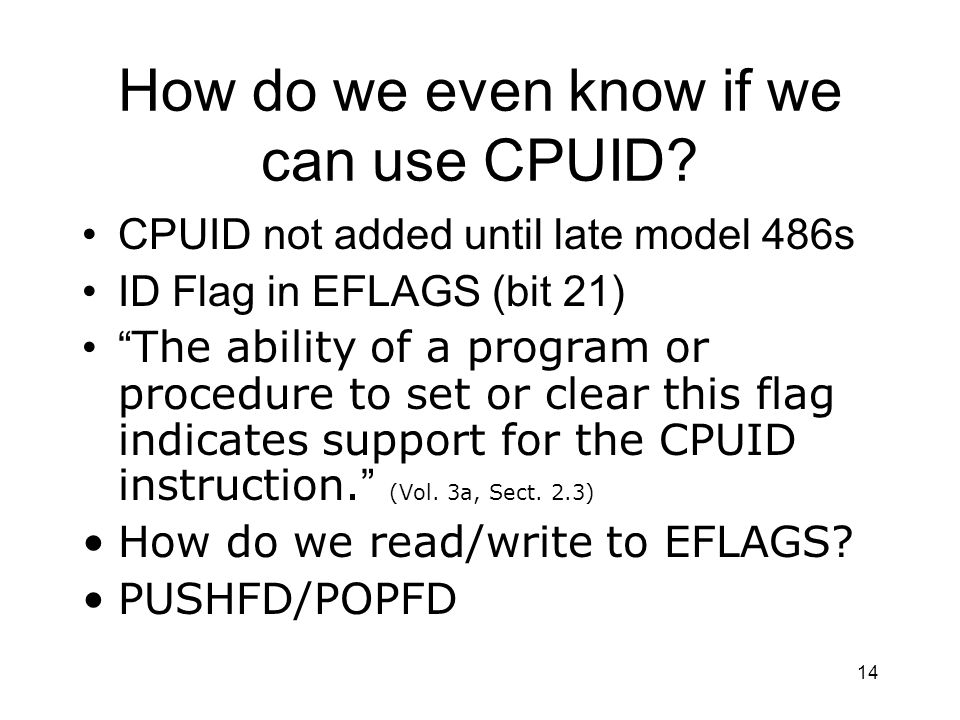 How do we even know if we can use CPUID