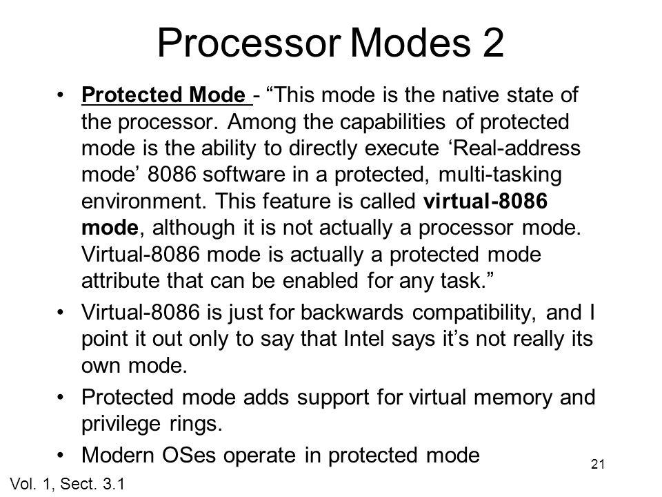 Processor Modes 2