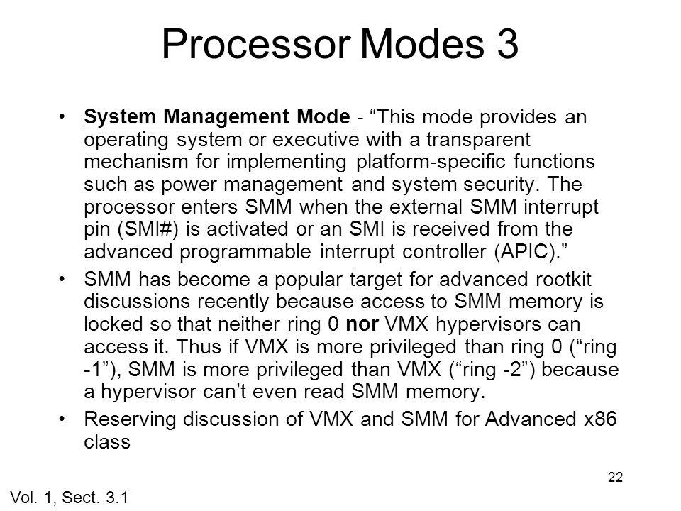 Processor Modes 3