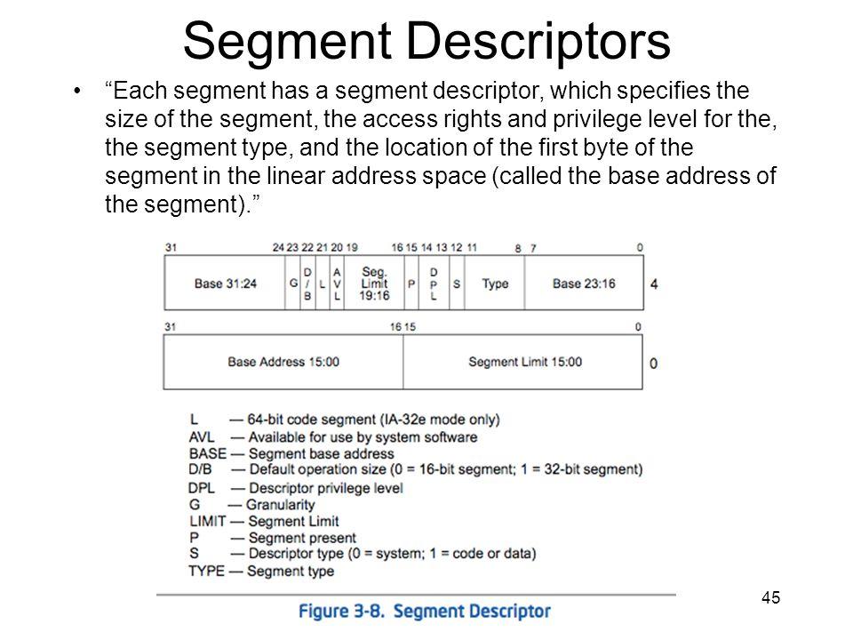 Segment Descriptors