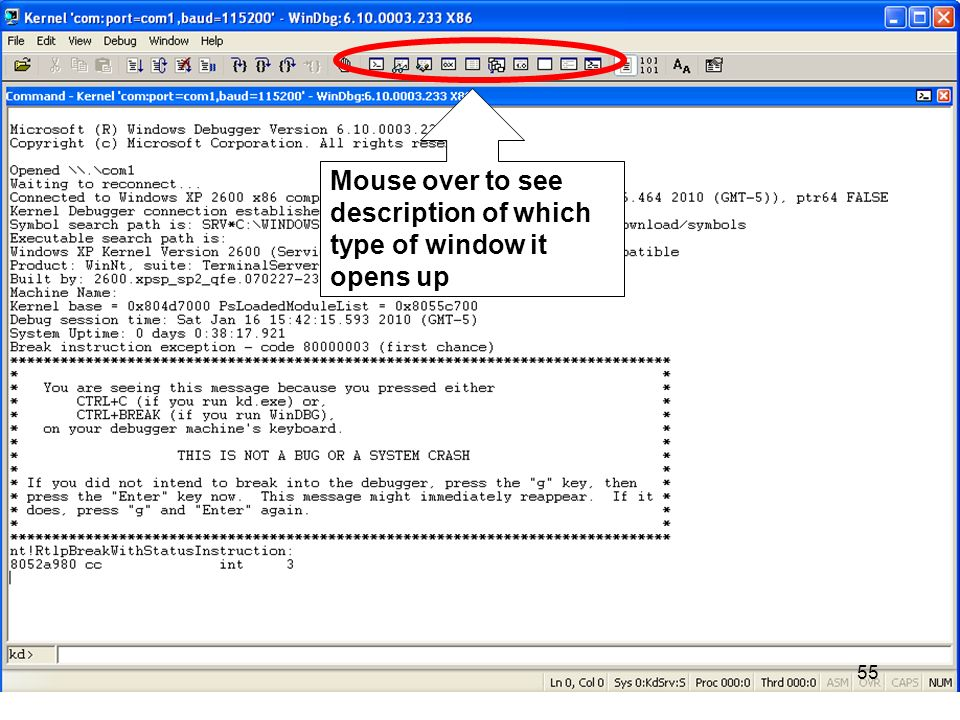 Mouse over to see description of which type of window it opens up