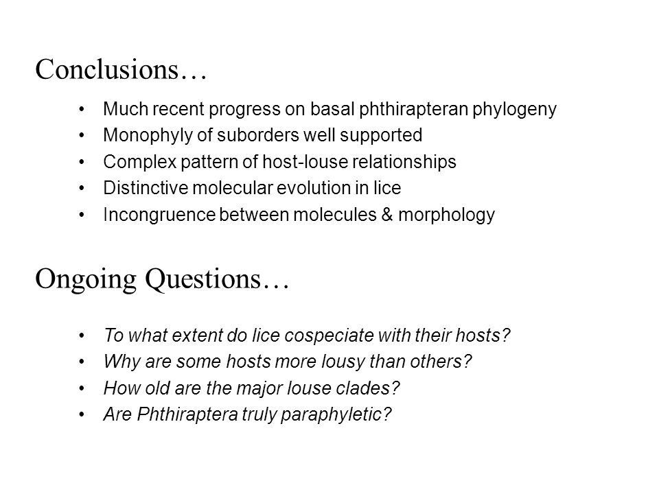 Conclusions… Ongoing Questions…