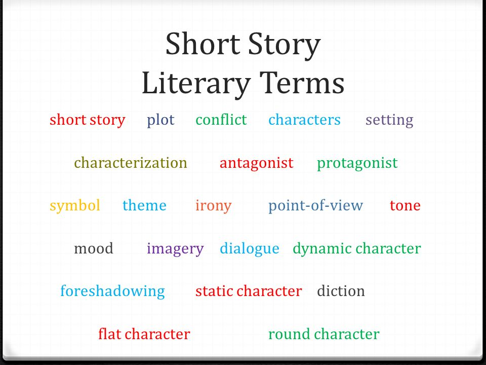 Literary Terms Examples