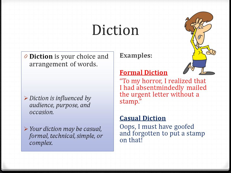Examples Of Diction In Literature Introduction an...