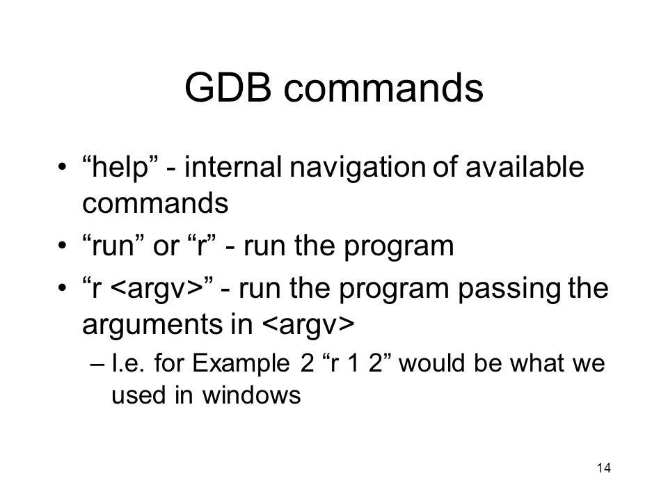 GDB commands help - internal navigation of available commands