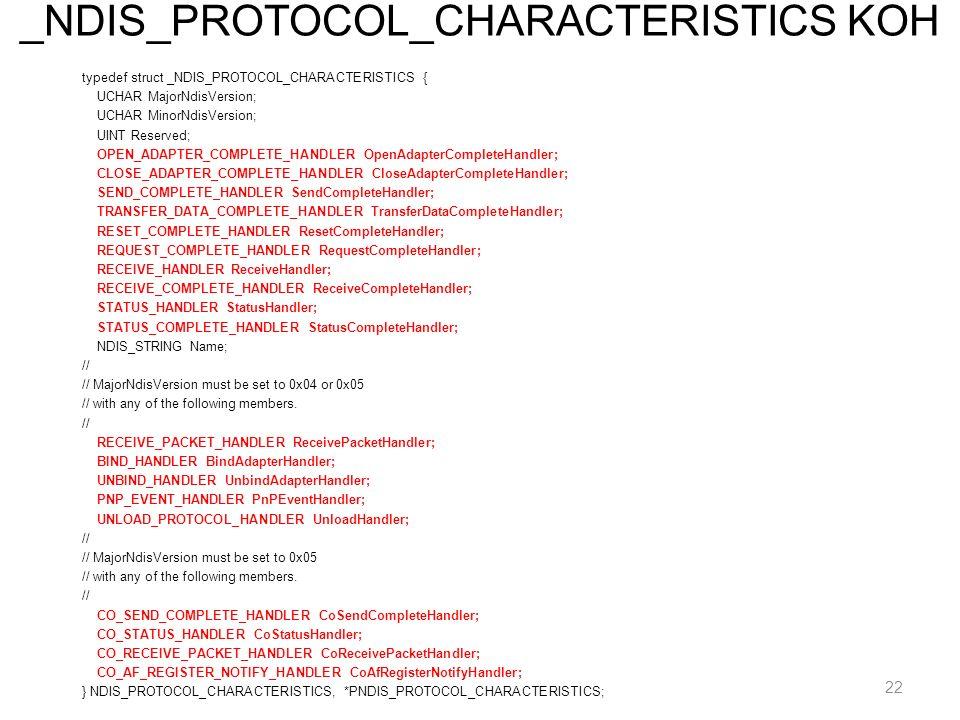 _NDIS_PROTOCOL_CHARACTERISTICS KOH