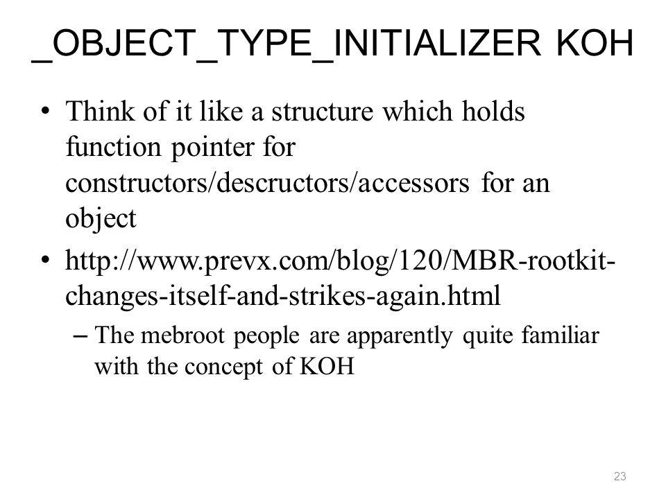 _OBJECT_TYPE_INITIALIZER KOH