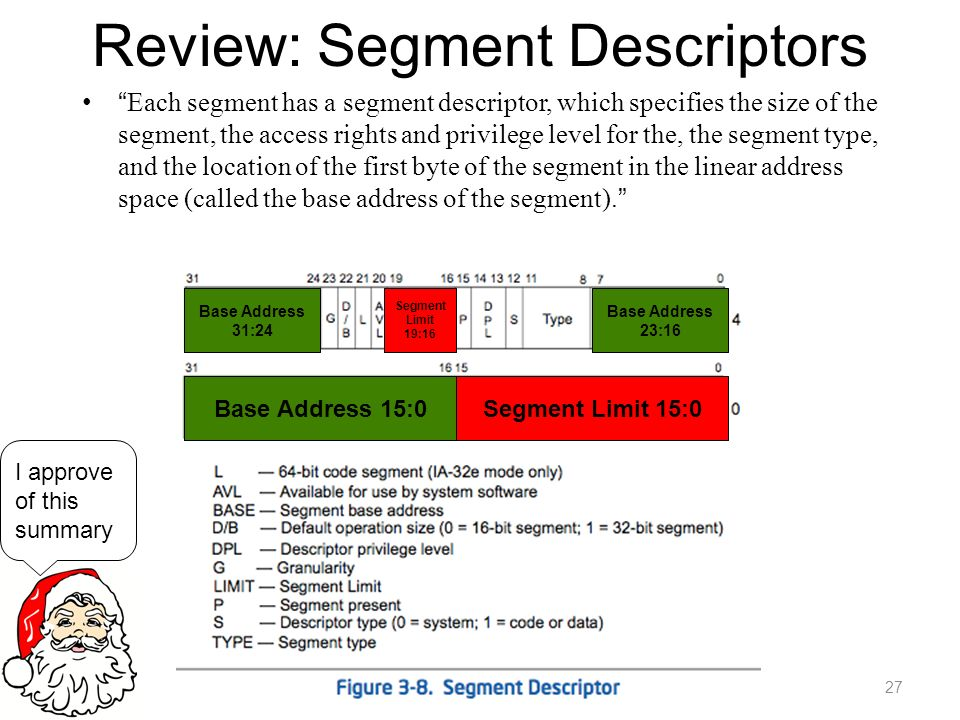 Review: Segment Descriptors