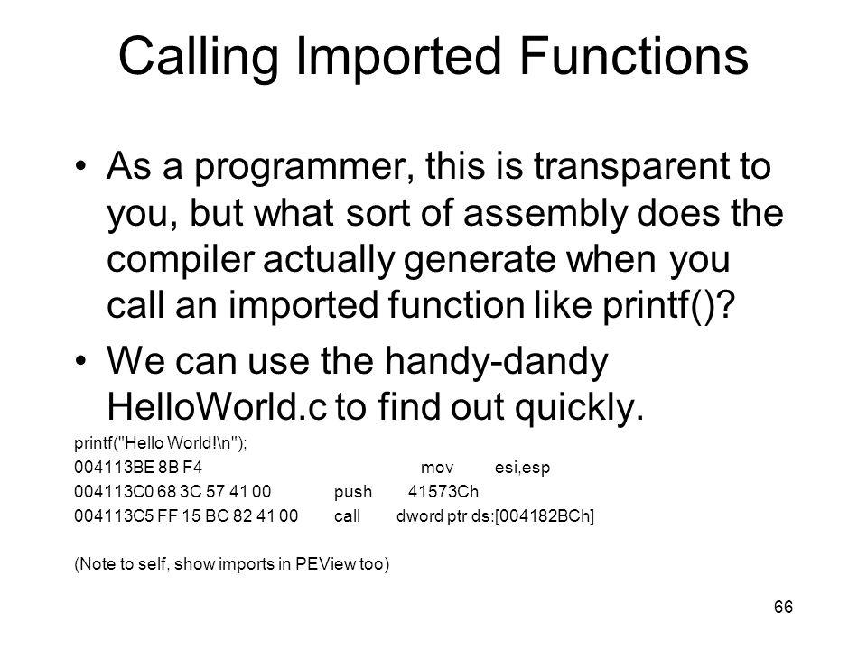Calling Imported Functions