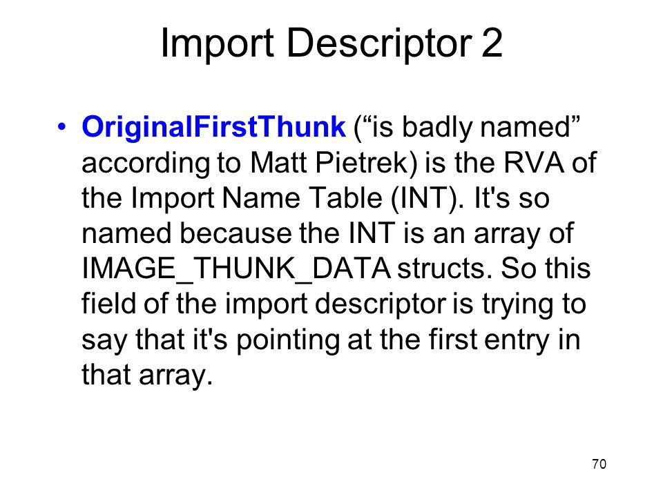 Import Descriptor 2