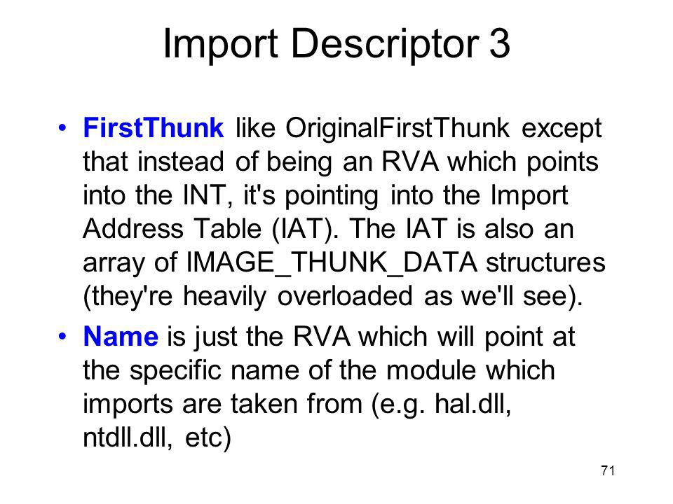 Import Descriptor 3
