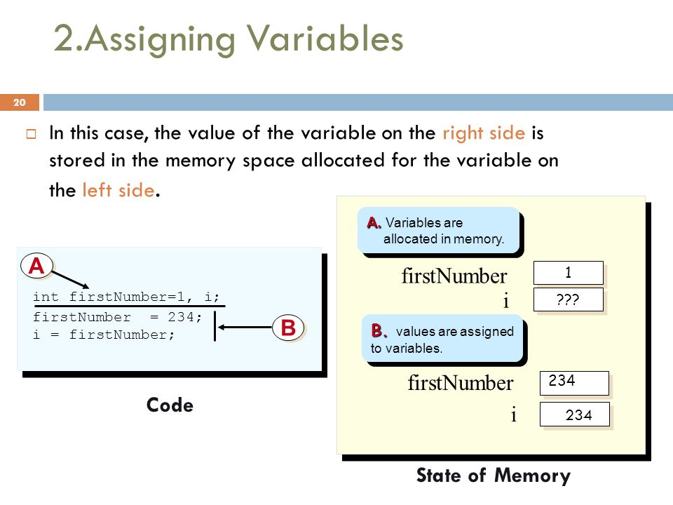 2.Assigning Variables