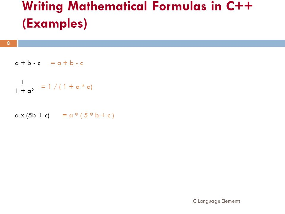 Writing Mathematical Formulas in C++ (Examples)