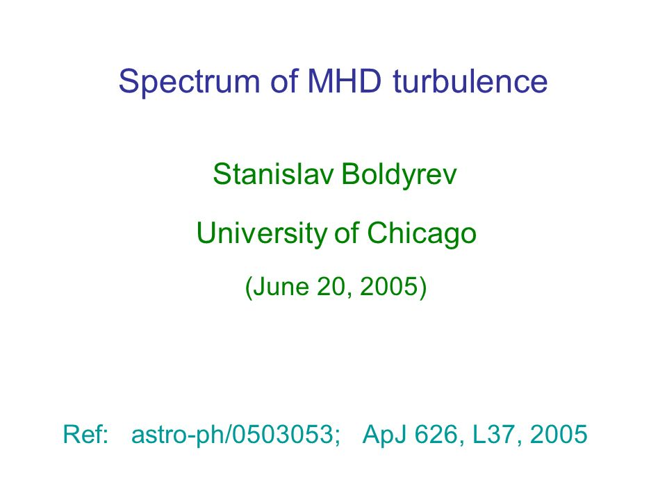 Spectrum of MHD turbulence