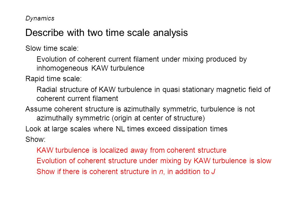 Describe with two time scale analysis