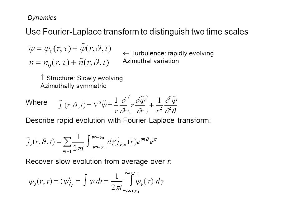 Use Fourier-Laplace transform to distinguish two time scales
