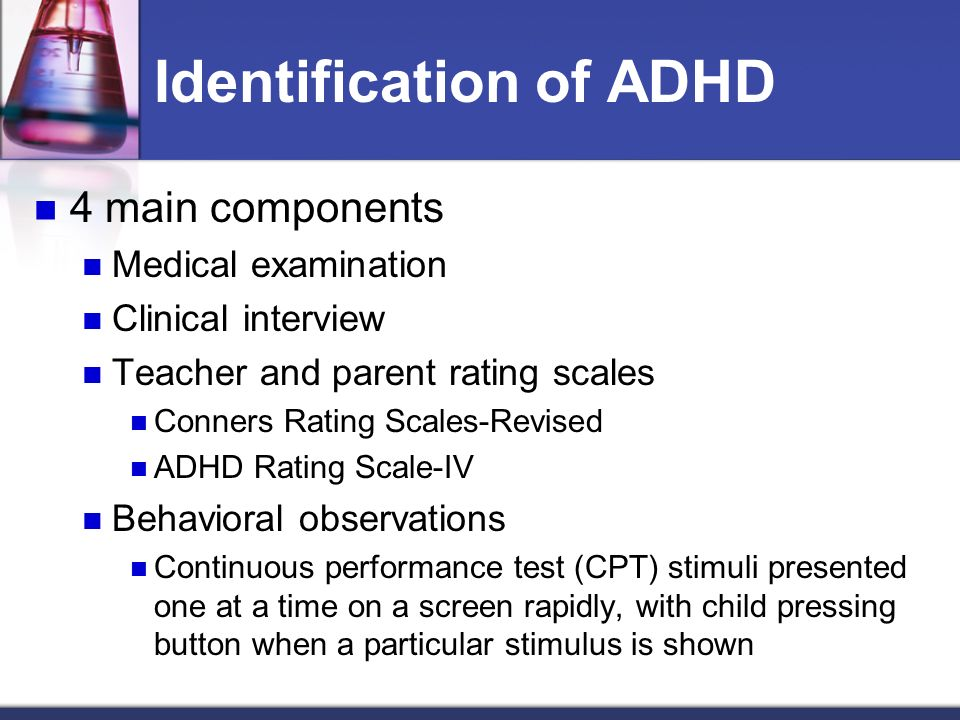 the adhd rating scale iv essay There are several different types of adhd rating scale used to diagnose  and  pelham-iv questionnaire (snap-iv), for children aged 6 to 18.