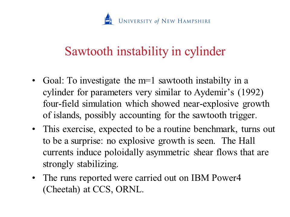 Sawtooth instability in cylinder