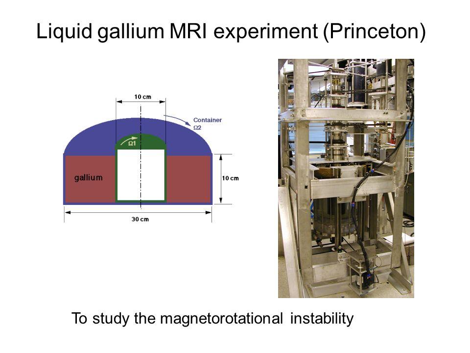 Liquid gallium MRI experiment (Princeton)