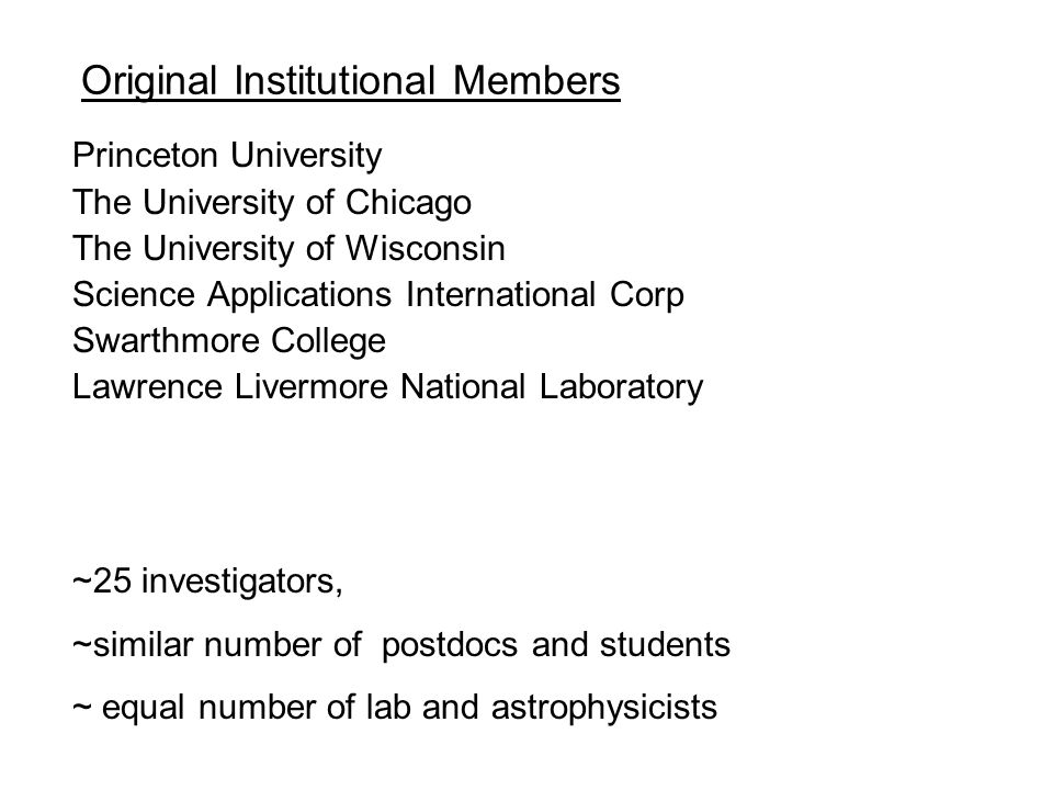 Original Institutional Members