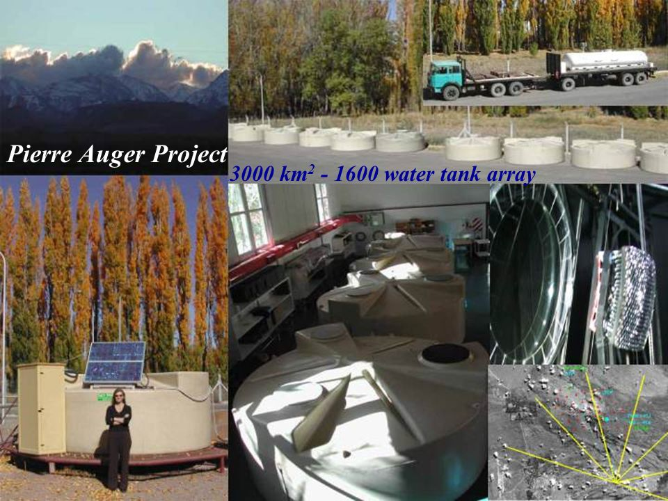 Pierre Auger Project 3000 km2 - 1600 water tank array