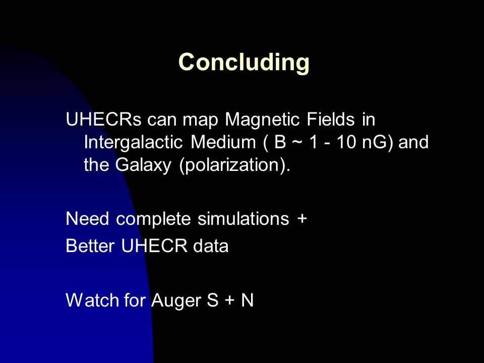 Concluding UHECRs can map Magnetic Fields in Intergalactic Medium ( B ~ 1 - 10 nG) and the Galaxy (polarization).