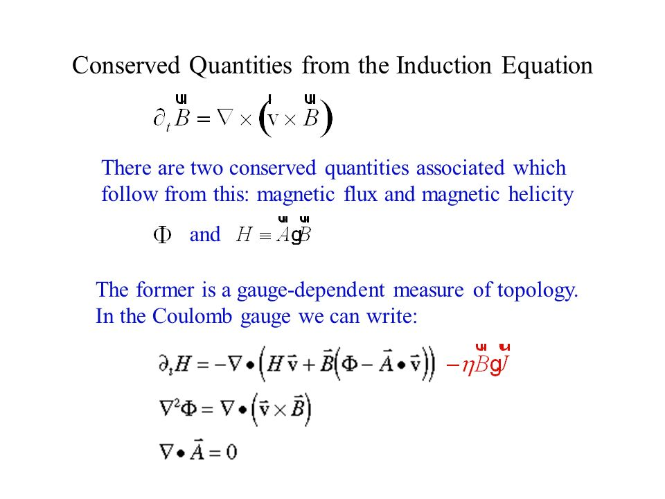 Conserved Quantities from the Induction Equation