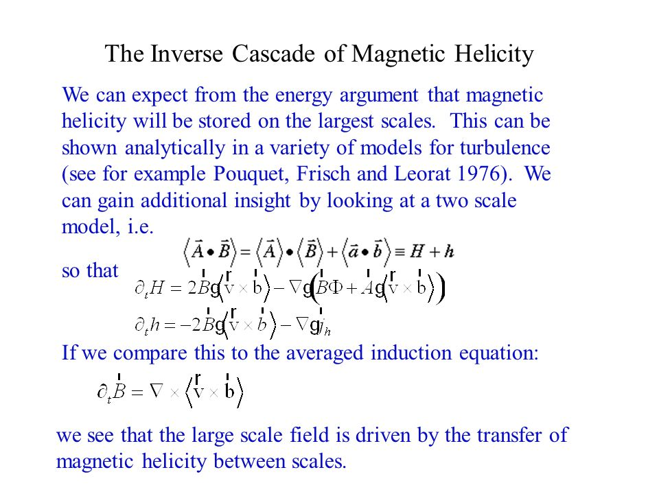 The Inverse Cascade of Magnetic Helicity