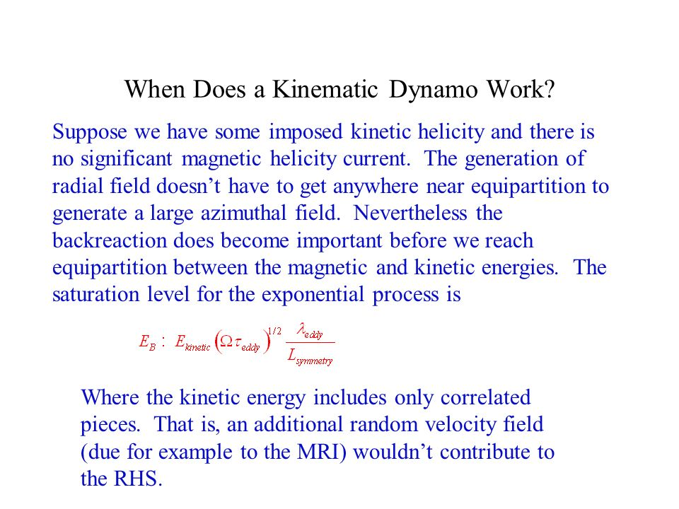 When Does a Kinematic Dynamo Work