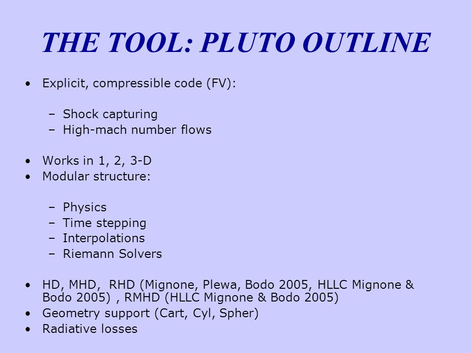 THE TOOL: PLUTO OUTLINE