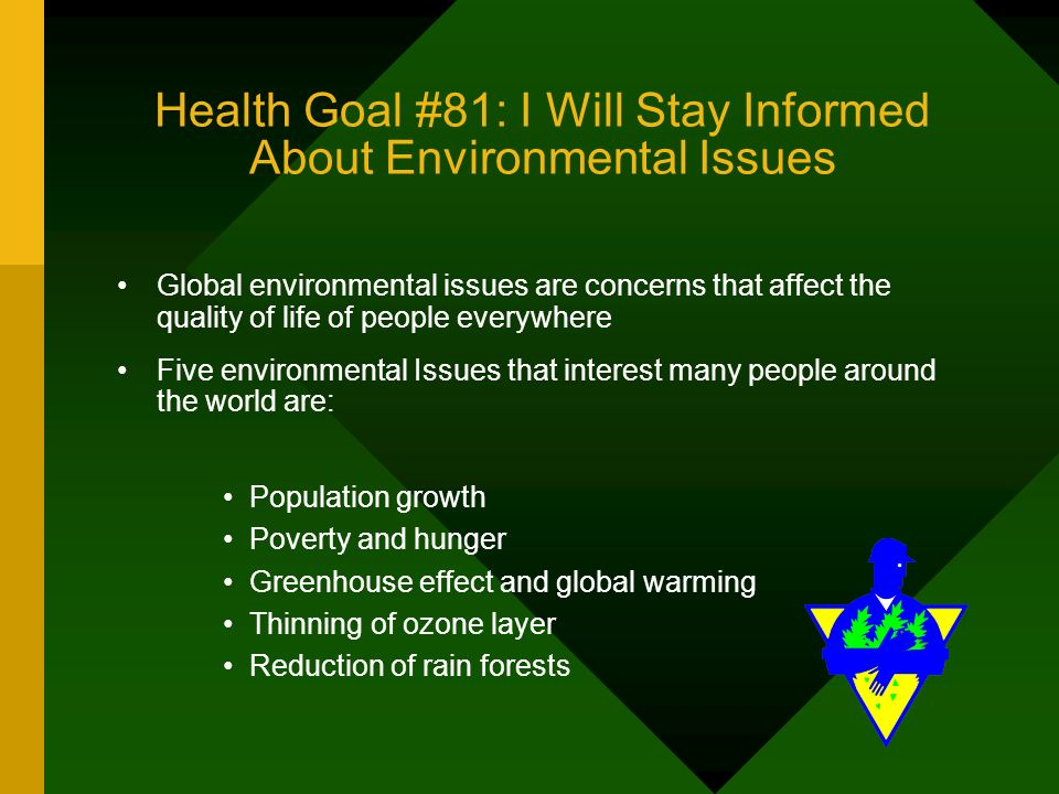 seven environmental issues that affect global health According to the united nations, one child in seven in africa dies before  the  whole global environment is affected by changes in weather and  the state,  such as education and health services, exacerbated the problems of.