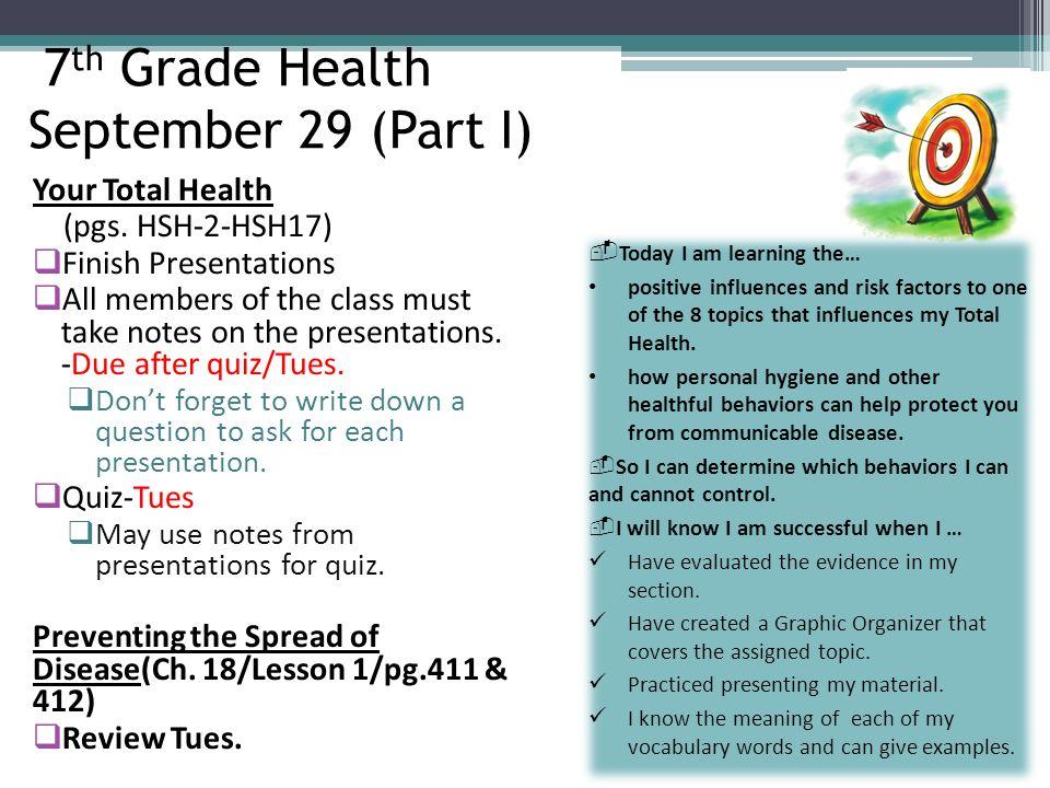 health and hygiene quiz