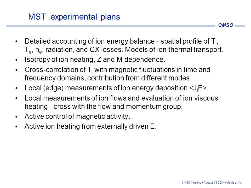 MST experimental plans