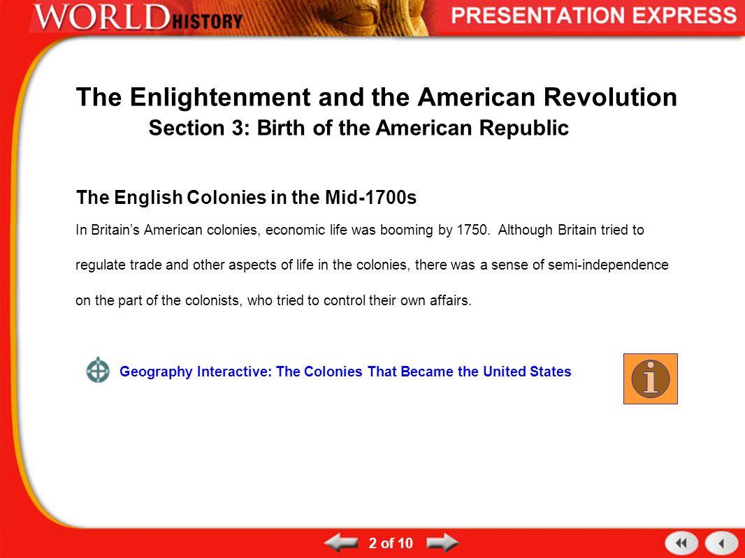 a history of the enlightenment period and the american revolution The enlightenment, also known as the age of the enlightenment ideas were in changing history and the french and american the american revolution.