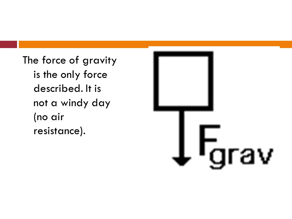 The force of gravity is the only force described
