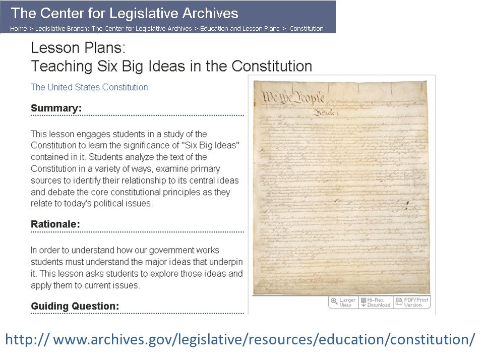 Teaching 6 Big Ideas in the Constitution - ppt video online download