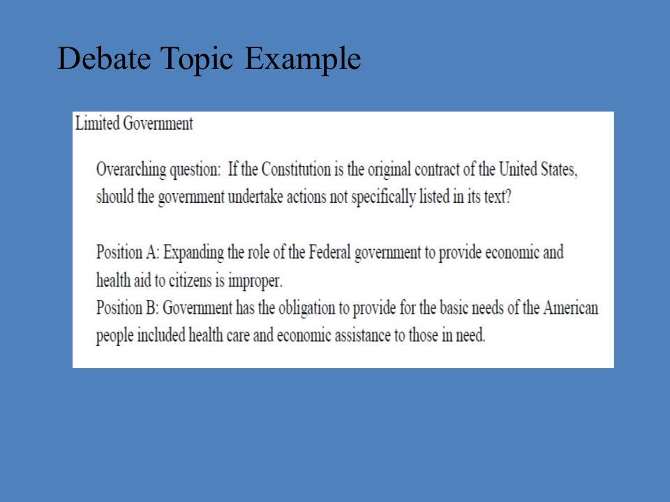 debate topics