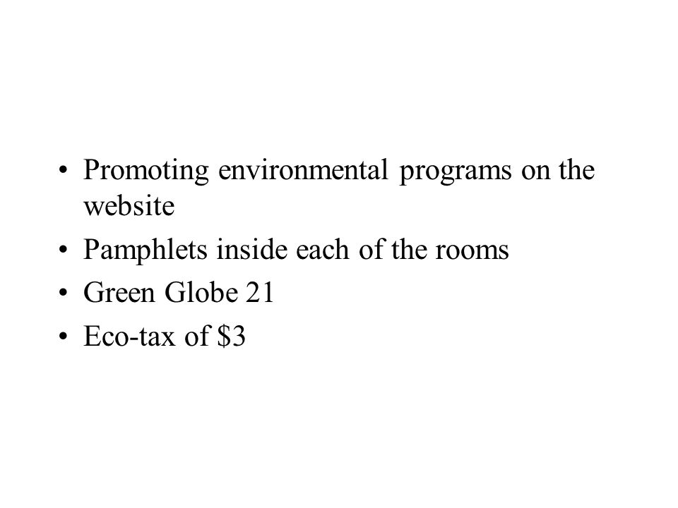Promoting environmental programs on the website