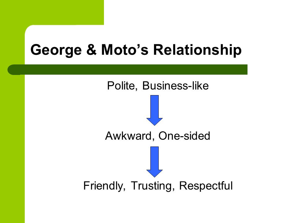 George & Moto's Relationship