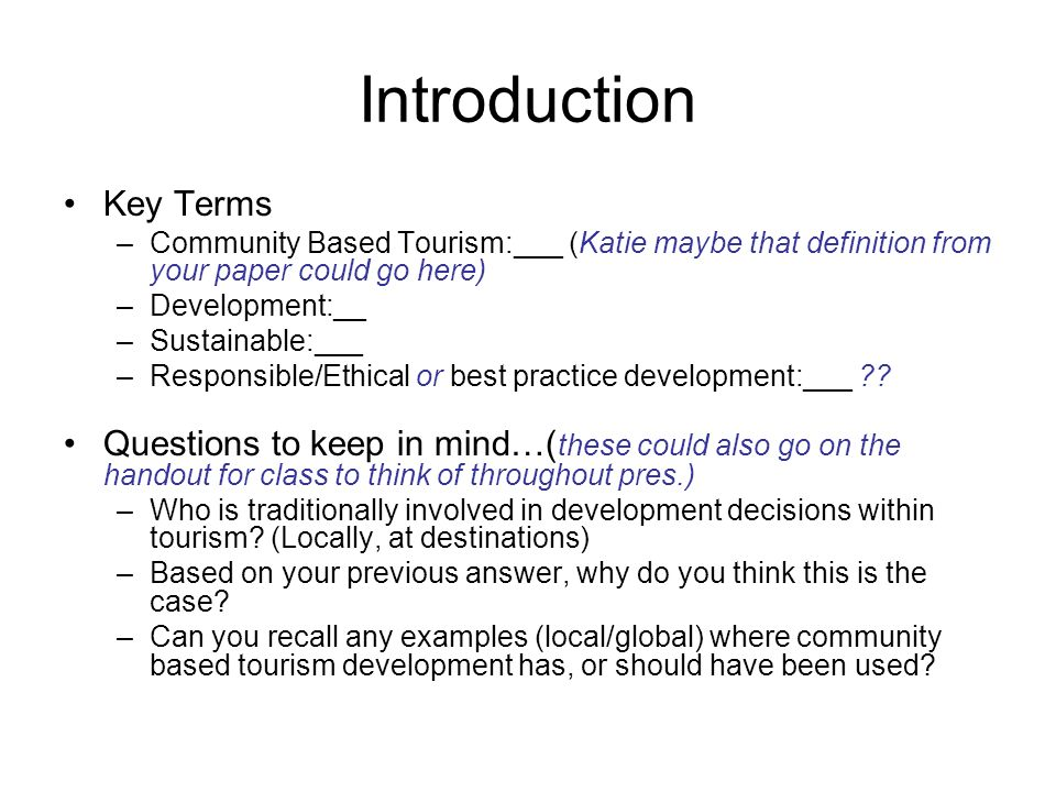 Introduction Key Terms