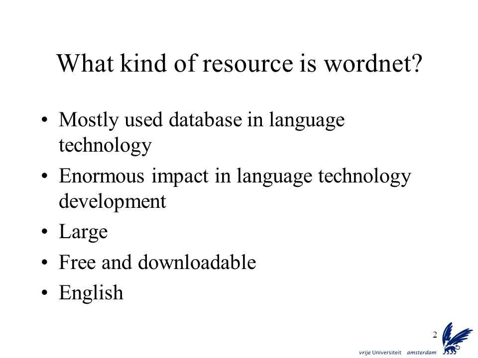 What kind of resource is wordnet