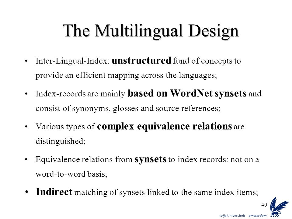 The Multilingual Design
