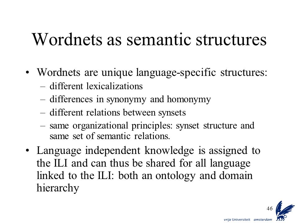 Wordnets as semantic structures