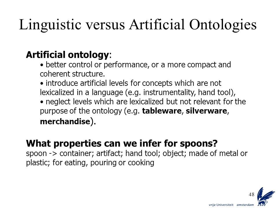 Linguistic versus Artificial Ontologies